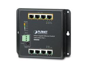 PLANET WGS-804HP 8-Port 10/100/1000T Wall Mounted Gigabit Ethernet Switch with 4-Port PoE+