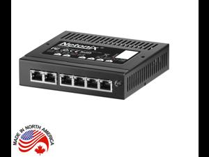 Netonix WS-6-MINI Wisp Switch Managed PoE+ Gigabit Switch 24 and 48 Volt PoE