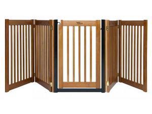 Walk Through 5 Panel Free Standing Pet Gate - Artisan Bronze