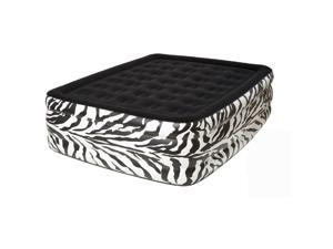 Pure Comfort zebra Queen Flock Top Raised air bed