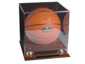Caseworks International CAS-BB-401-MG Mahogany Finish Basketball Display Case