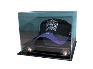 Caseworks International CAS-BB-450-GR Basketball Cap Display Case - Gold Risers - No Logo