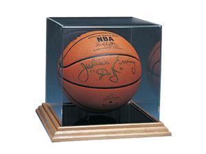 Caseworks International CAS-BB-402 Basketball Display Case - Wood Base - No Logo