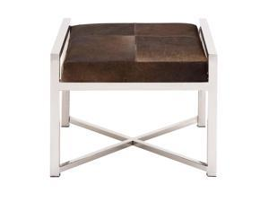The Stable and Stylish Stainless Steel Brown Leather Stool