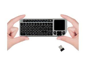 Favi Mini Keyboard with Laser Pointer - Silver (FE01-SL)