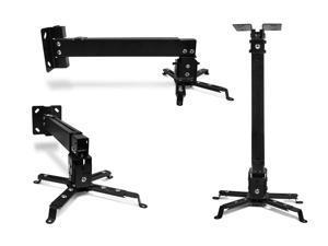 FAVI Universal Video Projector Ceiling Mount - US Version (Includes Warranty) - DIY Series - Black (P-MOUNT-BL)