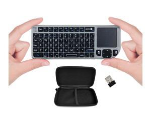 FAVI FE01-SL Mini 2.4GHz Wireless Keyboard Touchpad with Laser Pointer and Travel Case (Silver)