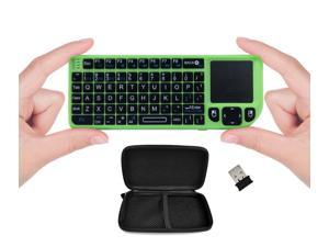 FAVI FE01-GR Mini 2.4GHz Wireless Keyboard Touchpad with Laser Pointer and Travel Case (Green)