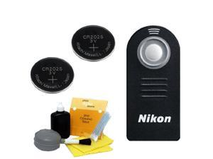 Nikon ML-L3 Wireless Remote Control&#59; 2 Replacement Batteries Cleaning Kit