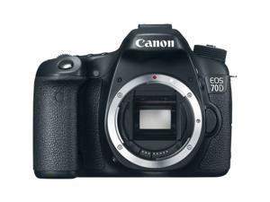 Canon 70d EOS 70D 20.2 MP Digital SLR Camera with Dual Pixel CMOS AF (Body Only)