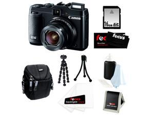 Canon G16 PowerShot G16 12.1 MP CMOS Digital Camera Bundle with 16GB SD Memory Card + Small Case + 7- inch Spider Tripod ...