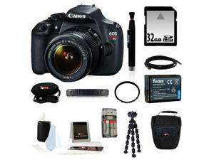Canon t5 Canon EOS Rebel T5 DSLR Camera with EF-S 18-55mm IS II Lens + 32GB SD HC Memory Card + Accessory Kit