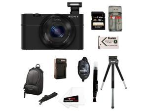 Sony RX100 DSC-RX100 20.2 MP Exmor CMOS Sensor Digital Camera With 3.6x Zoom + Sony 32GB Class 10 Memory Card Bundle