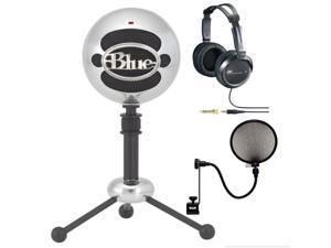 Blue SNOWBALL-BA Snowball USB Microphone by Blue Microphones +JVC HARX300 Full-Size Headphones (Black)+ CAD Audio Microphone Pop Filter