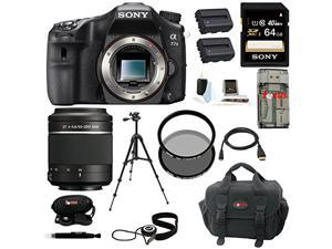 Sony A77 II: Digital SLR Camera (Body Only) with Sony DSLR SAL-55200/2 SAL 55-200mm F4-5.6 Sam Lens and 64GB Deluxe Accessory Kit