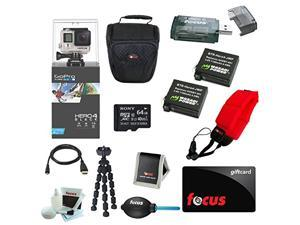 GoPro HERO 4 Black Edition with 64GB Deluxe Accessory Kit plus $10 Focus Gift Card