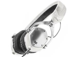 V-MODA XS On-Ear Folding Design Noise-Isolating Metal Headphone (White Silver)