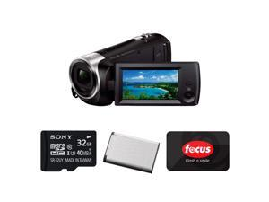 SONY CX405: Sony HD Video Recording HDRCX405 HDR-CX405/B Handycam Camcorder (Black) with Sony 32GB Memory Card, Replacement Battery, and $25 Gift Card