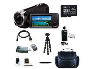 SONY CX440: Sony HD Video Recording HDRCX440 Handycam Camcorder w/ 32GB Deluxe Accessory Bundle