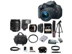 Canon T5i: EOS Rebel T5i 18.0 MP CMOS Digital Camera with EF-S 18-55mm f/3.5-5.6 IS STM Zoom Lens + Automatic TTL Flash + Telephoto & Wide Angle Lenses + Best DSLR Camera kit