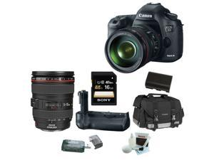 Canon EOS 5D Mark III 22.3 MP Digital SLR Camera with EF 24-105mm f/4 L IS USM Lens 16GB Accessory Bundle