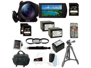 SONY CX900: Sony HDRCX900/B HD Video Camera + Two Sony 32GB Memory Cards and One Sony 64GB Memory SD Card + Tiffen 67mm Filter Kit + Two Replacement Battery for Sony NP-FV70 + Accessory Kit