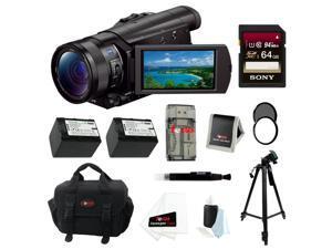 SONY AX100: Sony FDR-AX100/B 4K Ultra HD Camcorder (Black) + 64GB Bundle