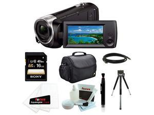 SONY CX440: Sony HDR-CX440/B (HDRCX440 HDRCX440B) Full HD 60pVideo Recording Handycam Camcorder with Sony 16GB Accessory Bundle