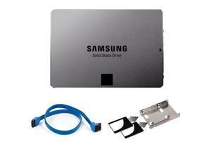 "Samsung MZ-7TE120BW 120GB SSD 840 EVO-Series 2.5-inch SATA III + 2 x 2.5"" Hard Drive HDD SSD Bay Converter + 18"" SATA III 6.0 Gbps Cable"