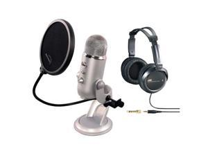 Blue YETI USB Microphone by Blue Microphones Condenser Plug & Play + Accessory Kit by Blue Microphones