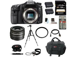Sony a77 - A77II Digital SLR Camera (Body Only) with Sony SAL30M28 30mm f/2.8 Lens for Alpha Digital SLR Cameras and 64GB Deluxe Accessory Kit