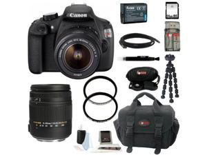 Canon T5 EOS Rebel T5 DSLR Camera with 18-55mm and 18-250mm Lens Bundle and 64GB + Best DSLR Camera Kit