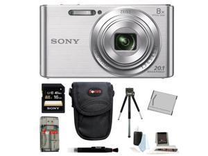 Sony DSCW830 DSCW830 W830 20.1 Digital Camera with 2.7-Inch LCD (Silver) 16GB Bundle