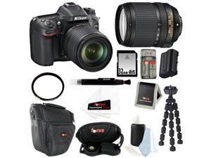 Nikon D7100 24.1 MP DX-Format CMOS Digital SLR (Body Only) w/ Nikon AF-S DX NIKKOR 18-140mm Zoom Lens + 32GB Deluxe Accessory Kit