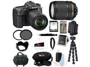 Nikon D7100 24.1 MP DX-Format CMOS Digital SLR (Body Only) w/ NIkon AF-S DX NIKKOR 18-140mm Zoom Lens + 64GB Deluxe Accessory Kit