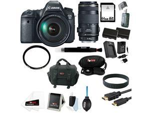 Canon EOS 6D DSLR Camera with 24-105mm IS Lens and 70-300mm  Zoom Lens Bundle