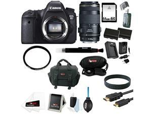 Canon EOS 6D DSLR Camera (Body Only) with Canon 70-300mm IS Zoom Lens