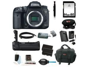 Canon EOS 7D Mark II Digital SLR Camera (Body Only) with Battery Grip and 64GB Deluxe Accessory Kit