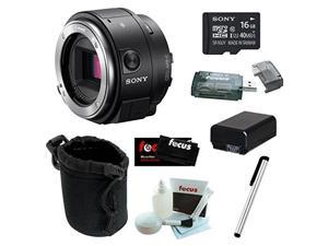 Sony Alpha ILCE-QX1/B Smartphone Attachable Interchangeable Lens Style Camera 16GB Bundle