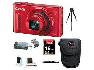 CANON SX610: Canon PowerShot SX610 IS Digital Camera HS Digital Camera (Red) with 16GB Accessory Bundle