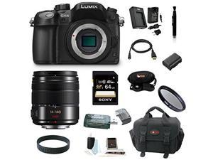Panasonic GH4: LUMIX DMC-GH4KBODY 16.05MP Digital Single Lens Mirrorless Camera with Panasonic Lumix G Vario 14-140mm f/3.5-5.6 Lens (Black) plus 64GB Deluxe Accessory Bundle