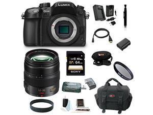Panasonic GH4: LUMIX DMC-GH4KBODY 16.05MP Digital Single Lens Mirrorless Camera with Panasonic H-HS12035 LUMIX G X VARIO 12-35mm/F2.8 ASPH X Series Lens plus 64GB Deluxe Accessory Bundle