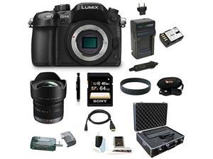 Panasonic LUMIX DMC-GH4KBODY 16.05MP Digital Single Lens Mirrorless Camera with Panasonic 7-14mm f/4.0 Micro Four Thirds Lens plus 64GB Deluxe Accessory Bundle