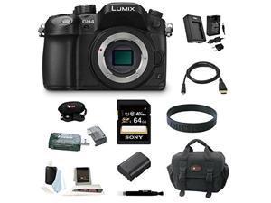 Panasonic GH4: LUMIX DMC-GH4K DMC-GH4KBODY GH4 16.05MP Digital Single Lens Mirrorless Camera with 64GB Deluxe Accessory Bundle