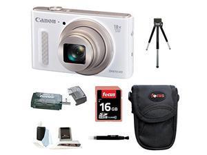 CANON SX610: Canon PowerShot SX610 IS Digital Camera HS Digital Camera (White) with 16GB Accessory Bundle