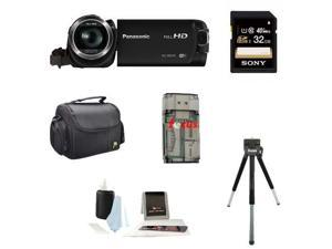 Panasonic HC-W570 Super Zoom Camcorder with Built-in WiFi + Sony 32GB SDHC Memory Card + Deluxe Accessory Kit