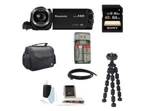 Panasonic HC-W570 Super Zoom Camcorder with Built-in WiFi + Sony 64GB SDHC Memory Card + Deluxe Accessory Kit