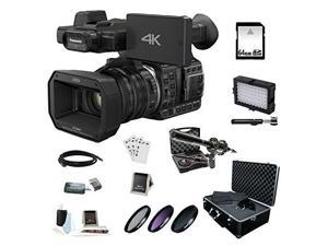 Panasonic HC-X1000 4K-60p/50p Camcorder with High-Powered 20x Optical Zoom and Professional Functions (Black) with Accessory Bundle