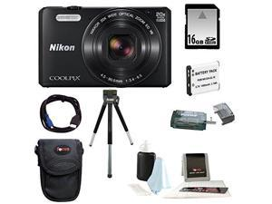 Nikon S7000 COOLPIX (Black) with 16GB Accessory Kit
