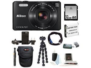 Nikon S7000 COOLPIX Camera (Black) with 32GB Kit